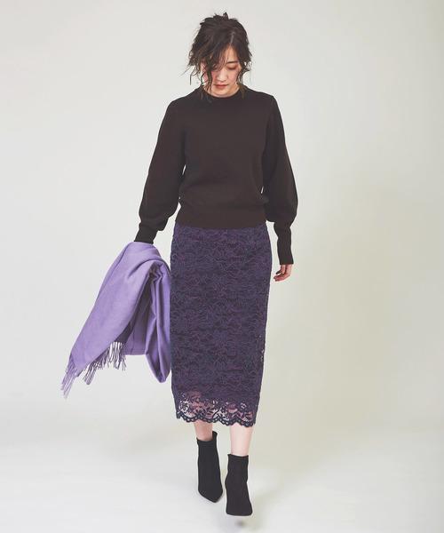 [The Virgnia] ベロアレースタイトスカート
