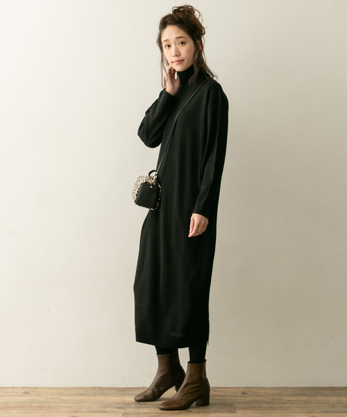 [URBAN RESEARCH ROSSO WOMEN] F by ROSSO ウォッシャブルタートルニットワンピース