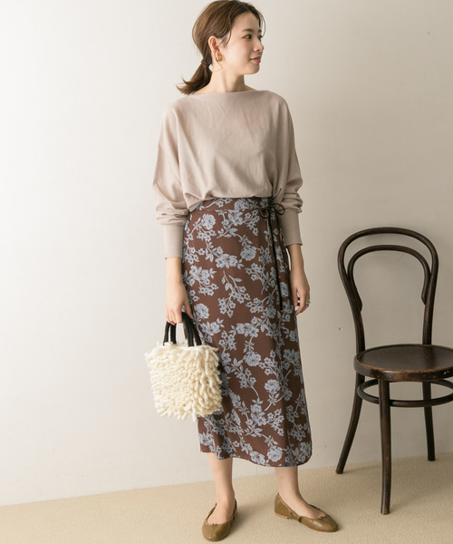 [URBAN RESEARCH] サラサフラワープリントタイトスカート