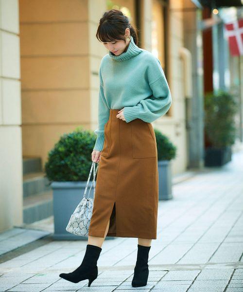 [le.coeur blanc] ハイウエストポケットタイトスカート