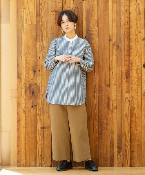 [coen] 【WEB限定追加生産・ムック本掲載】ブロードバンドカラー ロングシャツ2