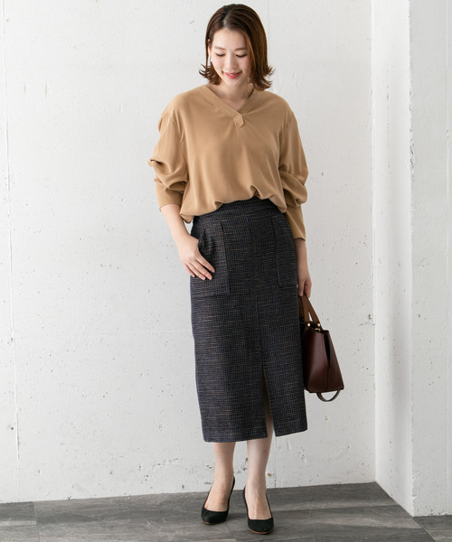 [URBAN RESEARCH ROSSO WOMEN] モールチェックタイトスカート