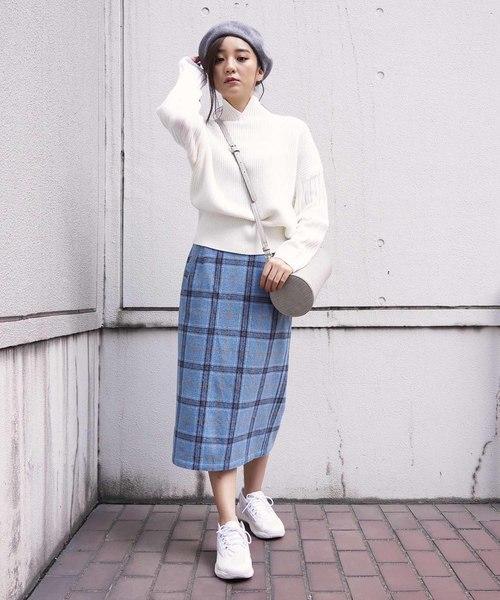 [FREE'S MART] ◆チェックIラインタイトスカート