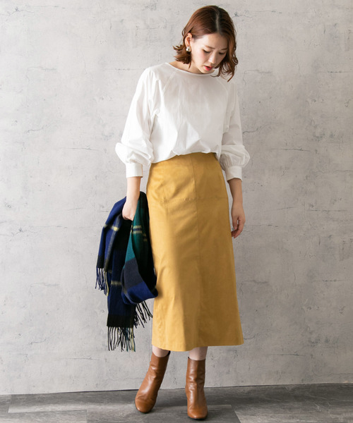 [URBAN RESEARCH ROSSO WOMEN] 【スタイリスト川上さやか×ROSSO】ストレッチスエードタイトスカート