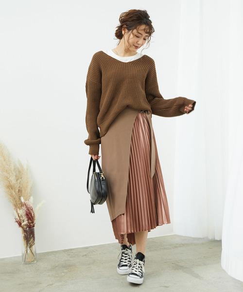 [ROPE' PICNIC] 【WEB限定】【2WAY】ラッププリーツスカート