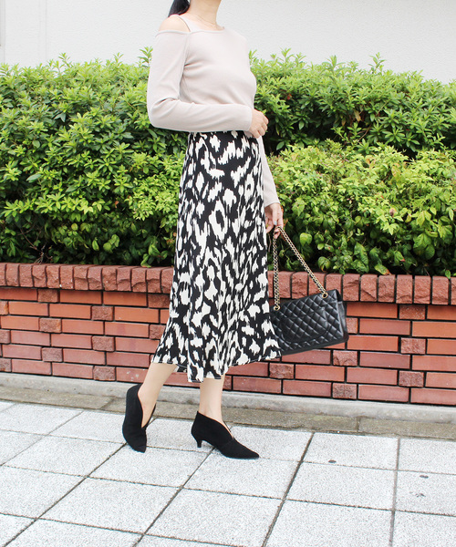 [MODE ROBE] レオパードタイトスカート