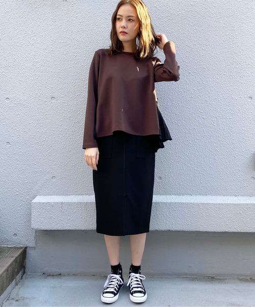 [PICCIN] フロントジップタイトスカート