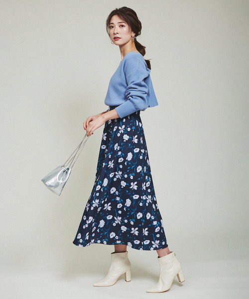 [The Virgnia] ボタニカルフラワー柄スカート