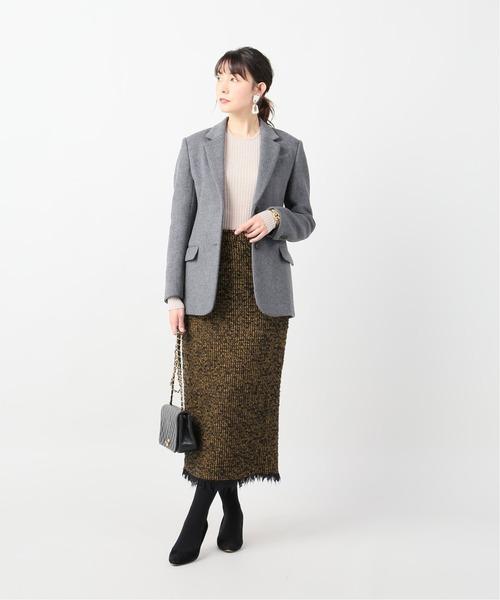 【冬】タイトスカート×ビジネスカジュアル