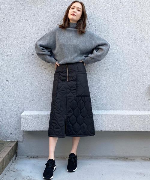 [PICCIN] セミタイトキルトスカート