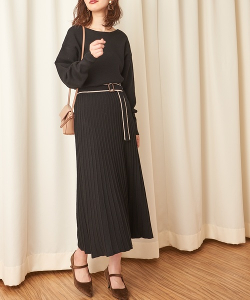 [natural couture] 【WEB限定】お上品ニットセットアップ