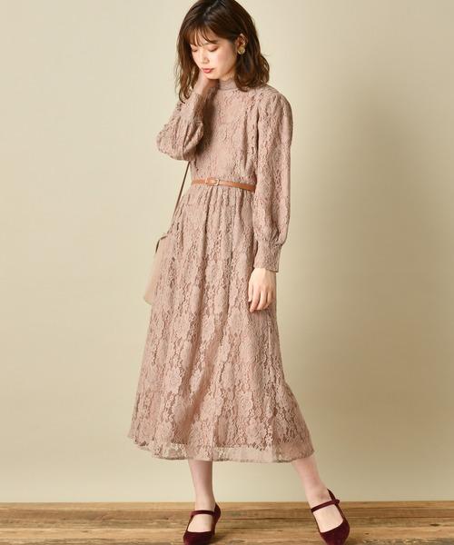 [natural couture] 【WEB限定カラー有り】ヴィンテージレースワンピース