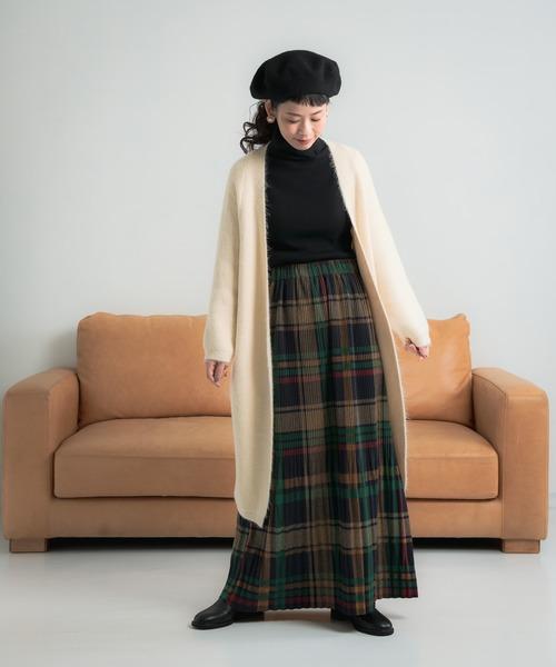 [Auntie Rosa] Libra チェック柄プリーツスカート