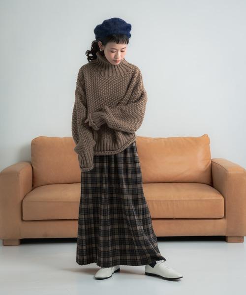 [Auntie Rosa] Libra チェック柄プリーツスカート3