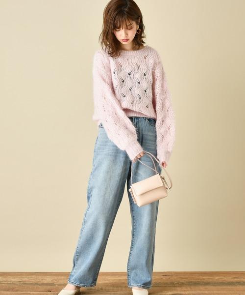 [natural couture] ルーズストレートデニムパンツ