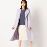 ラベンダーカラーのコートコーデ15選♪清楚なきれい色を取り入れよう!