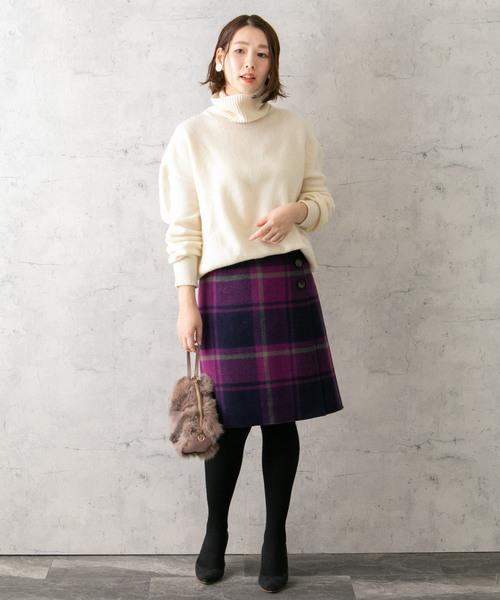 [URBAN RESEARCH ROSSO WOMEN] チェックリバー台形スカート
