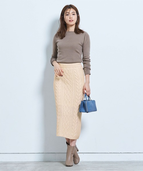 [ur's] ケーブル編みタイトスカート