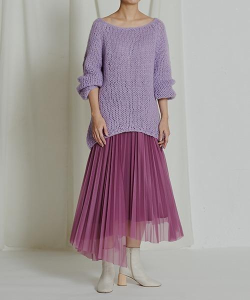 ['PalinkA] イレギュラーヘムプリーツスカート