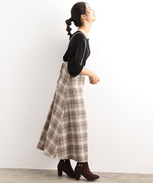 [ViS] 【WEB限定】バックリボンジャンパースカート