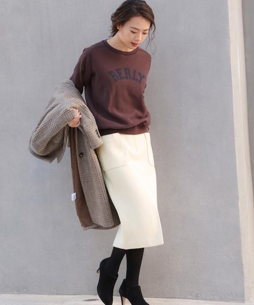 [BABYLONE] ライトナッピングタイトスカート