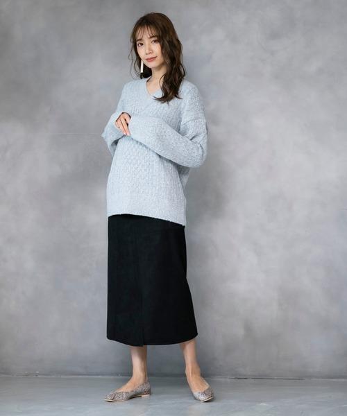 [210nouve] フロントポケットデザインタイトスカート