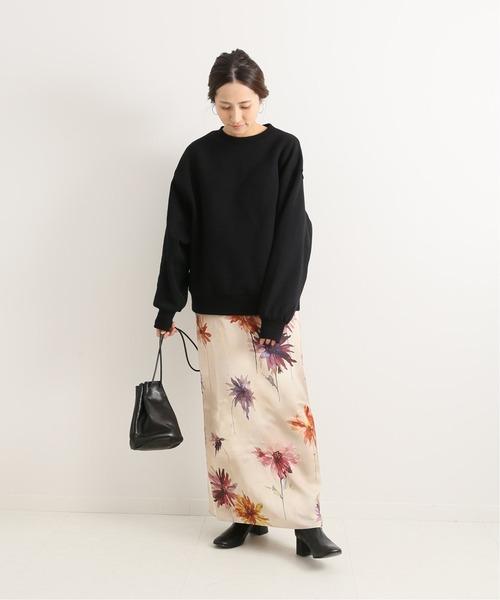 [Spick & Span] 大花マキシースカート◆