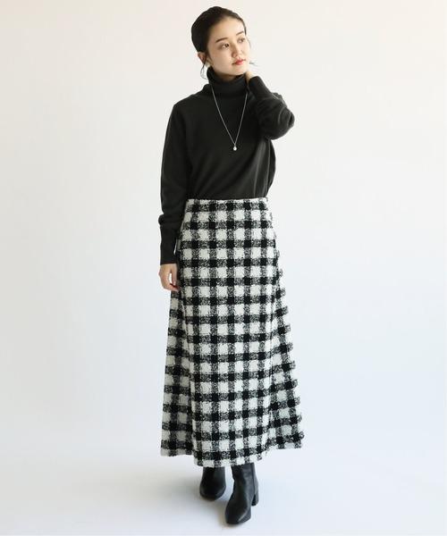 [IENA] chere monotone ツイードスカート◆