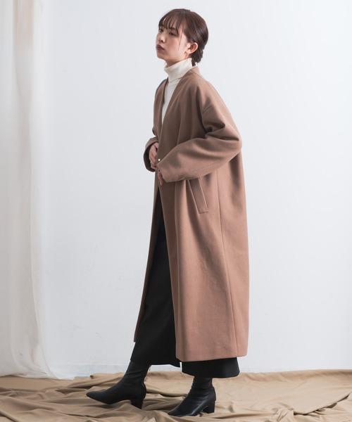 [YARD PLUS/AUNT MARIE'S] AUNT MARIE'S スエードライクIラインロングスカート