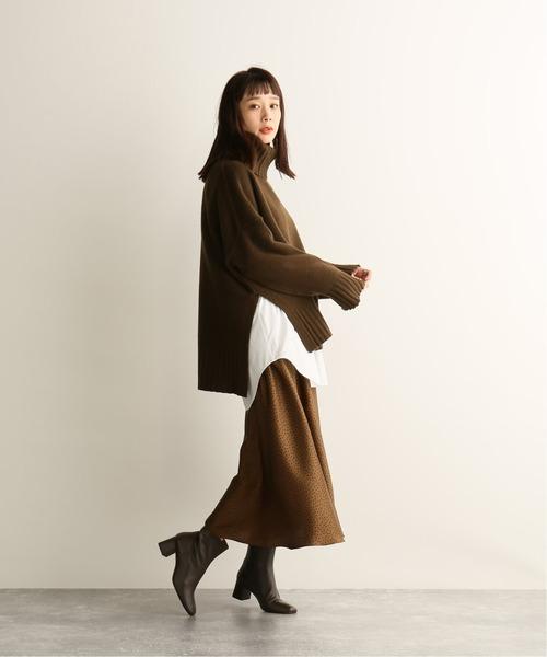 [JOURNAL STANDARD] ハンマーサテンドットギャザースカート