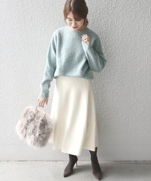 [SHIPS for women] ウールフレアスカート◇