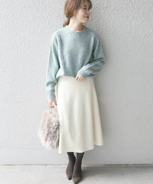 [SHIPS for women] ウールフレアスカート◆