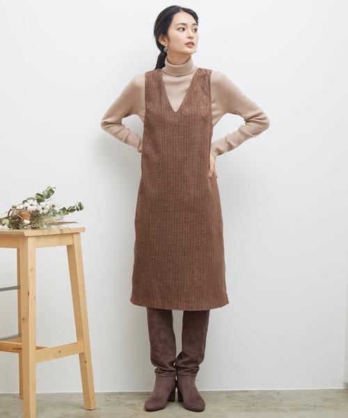 [ROPE' PICNIC] ツイードジャンパースカート