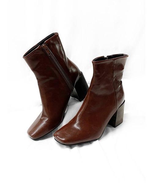 [LVEU.] Square toe short boots / スクエアトゥショートブーツ