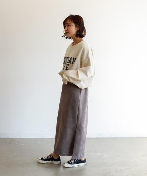 [Auntie Rosa] 【HOLIDAY】スエードスカート