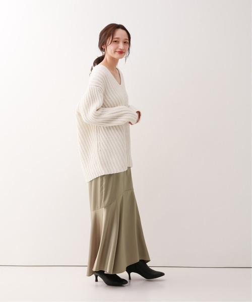 [Spick & Span] サテンヘムラインスカート3◆