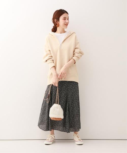 【軽井沢】4月に最適な服装:スカートコーデ5