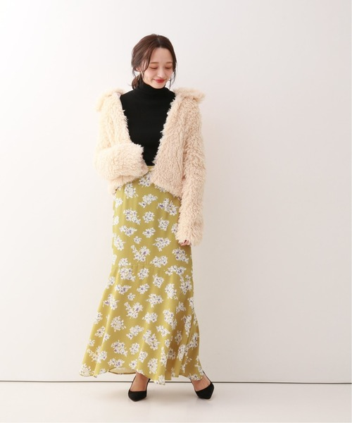 [Spick & Span] ヘムラインフラワープリントスカート2◆