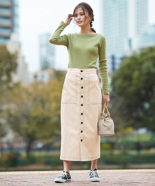 [titivate] ステッチデザインタイトスカート