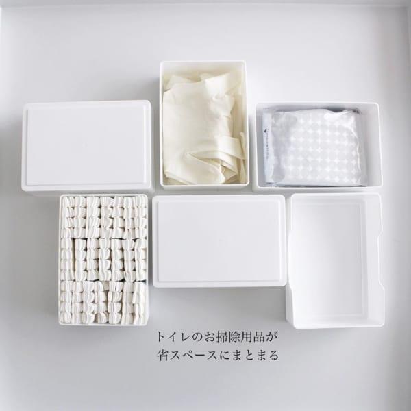 小物収納に便利なセリアの白い収納ケース