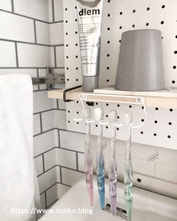 歯ブラシ 収納アイデア3