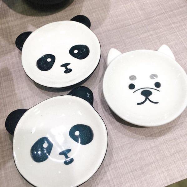 【セリア】耳付きパンダのミニボウル