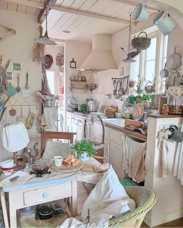センスが光るフレンチスタイルのキッチン