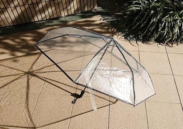 透明折りたたみ傘2