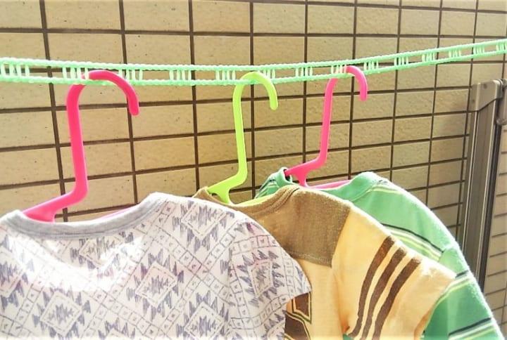 穴あき型洗濯ロープ