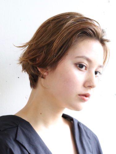 センター分け前髪×ショートヘア《ヘアカラー》3