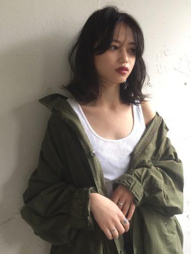ミディアム×巻き髪×ワンレングス