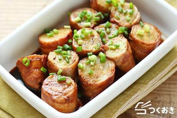 豚バラのお弁当レシピ《肉巻き》3