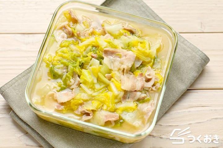 簡単なレシピに!豚バラ白菜の生姜あん