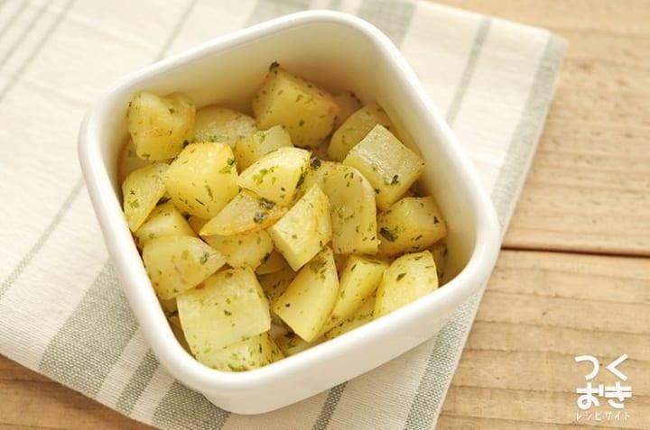 人気のレシピに!副菜にはのり塩バターポテト